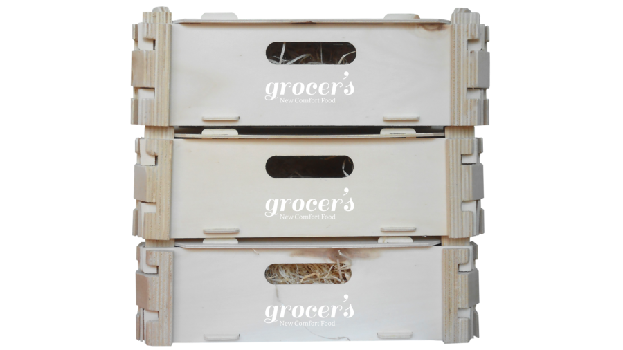 Caixa de Madeira Grocer's